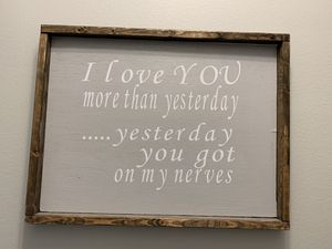 Wooden farmhouse style sign for Sale in Pineville, LA