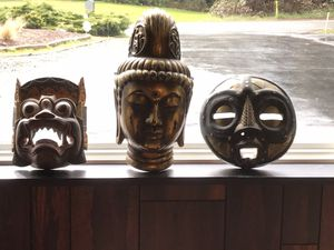 3 Authentic genuine African Masks $200 for Sale in Silverdale, WA