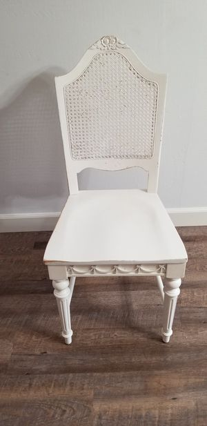 Wood White Chair for Sale in Fresno, CA