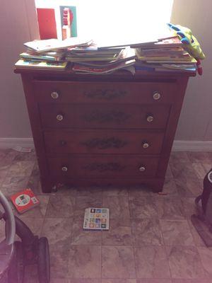 Kids dresser, single stroller, double stroller, and box of kids toys for Sale in Orlando, FL