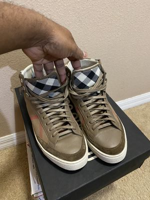 Burberry High Top Sneakers 100% Authentic for Sale in Valrico, FL