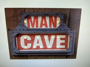 Brand New LED Lighted Marquee Man Cave Sign Pool Room Game Room Sign for Sale in Red Oak, TX