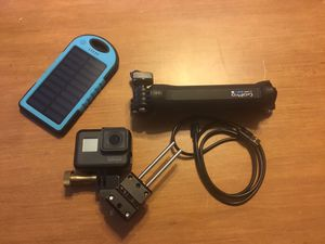 GoPro 5 Hero Black, with cables, tripod, and battery pack to charge if needed for Sale in Aurora, IL