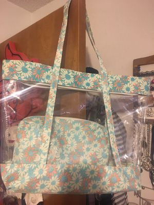 Clear flowered tote for Sale in TX, US