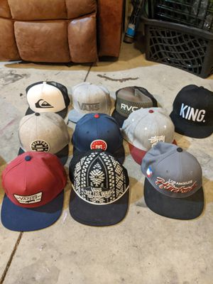 Snapback hats: Vans, Brixton, Stussy, RVCA, DC, Quicksilver, etc for Sale in Ellensburg, WA