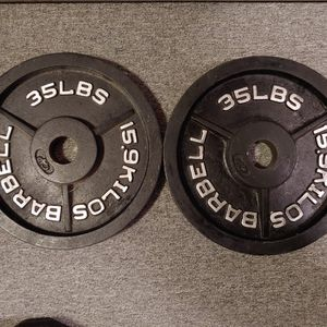 Two 35lb Olympic Weight Plates for Sale in Elma, WA