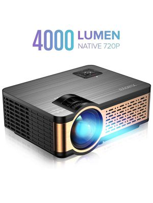 W5 Projector Native 720P with HiFi Speaker, 4000 Lumen Video Projector Support 1080P Display for Home Theater Entertainment, Compatible with HDMI, SD for Sale in Alta Loma, CA