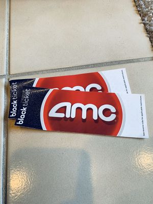 AMC black tickets (2) for Sale in San Diego, CA