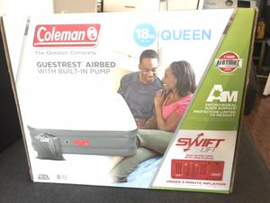 Coleman airbed with built-in pump air mattress for Sale in Washington, DC