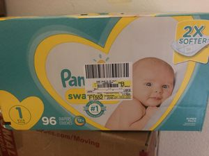 Brand New Sealed Pampers Size 1 Diapers 96 Count. Retail $28 for Sale in Carlsbad, CA