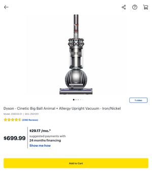 Dyson Cinetic Big Ball Animal + Allergy Upright Vacuum Iron/Nickel for Sale in Miami, FL