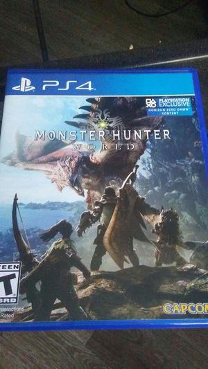 Monster Hunter world ps4 for Sale in Hyattsville, MD
