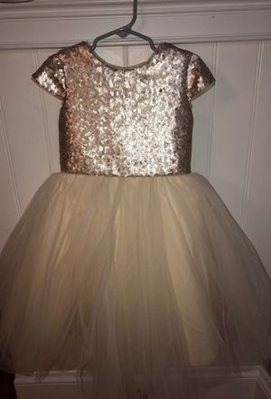Flower girl Dress size 5 and size 6- Gold and Ivory for Sale in Lynn, MA
