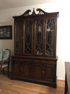 Antique wood China cabinet for Sale in Hemet, CA