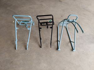 Bike racks: Front and back powder blue, front black for Sale in Gig Harbor, WA