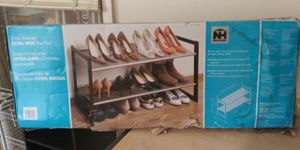 Neu Home 2 Tier Stockable X Wide Shoe Rack for Sale in Raytown, MO
