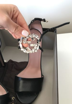 Gucci crystal heels size 7 for Sale in West Los Angeles, CA