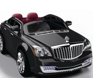 RIDE ON CAR FOR KIDS-POWERED WHEELS RC 12V LICENSED MAYBACH STYLE LUXURY CAR BLACK WITH PARENTAL REMOTE CONTROL - Retail $560.00 for Sale in Miami, FL