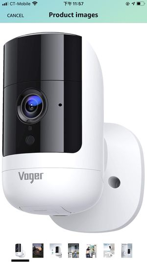 Voger Security Camera Outdoor, Rechargeable Indoor Camera 6700mAh Battery-Powered, 1080P Wireless Wifi Camera with Dual-PIR Motion Detection, 160°Wid for Sale in Belmont, CA