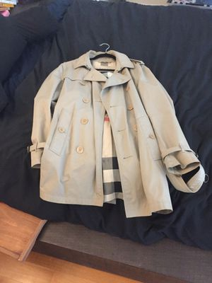 Burberry pea coat type jacket medium badge color for Sale in Brooklyn, NY