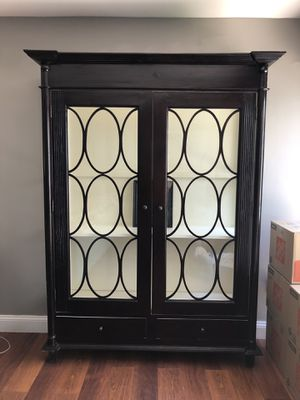 Espresso Solid Wood Cabinet for china buffet, bookshelf, etc... for Sale in Miami, FL