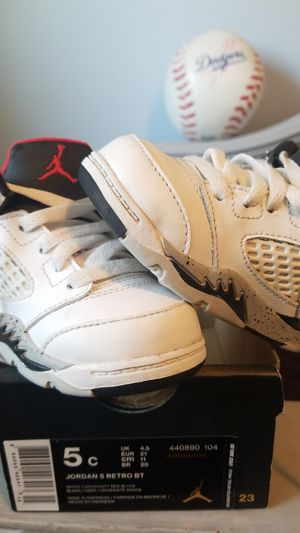 Jordan's 5 Retro Toddlers Shoes for Sale in Colton, CA