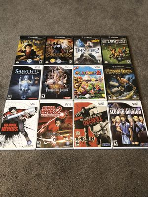 Nintendo Gamecube + Wii Game Bundle Mario Party 8 No More Heroes Pandoras Tower Silent Hill Shattered Memories Time Splitters 2 for Sale in Riverside, CA