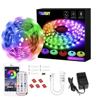 19.7ft Led Strip Lights Sync to Music Color Changing RGB Led Lights for Sale in Hacienda Heights, CA