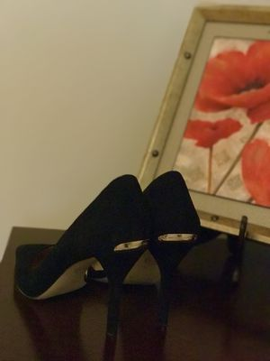 Michael Kors Black classic suede pump with side opening. for Sale in Monterville, WV