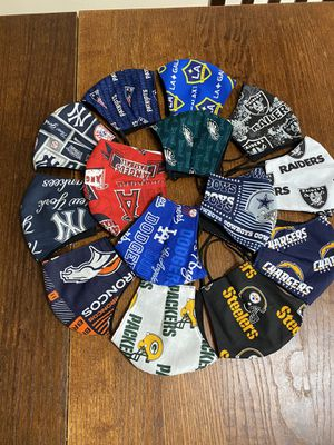 Face masks, Chargers, Raiders, Dodgers, Angels, Broncos, Rams, cowboys, Patriots, NY Yankees,Eagles,LA Galaxy, Steelers, Packers, 49ers, Anaheim Ducks for Sale in Santa Ana, CA