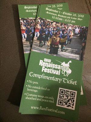 3 Renaissance Festival Tickets for Sale in Worthington, OH