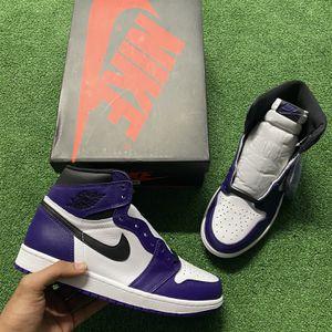 "Jordan Retro 1s High Og "" Court purples for Sale in Fort Lauderdale, FL"