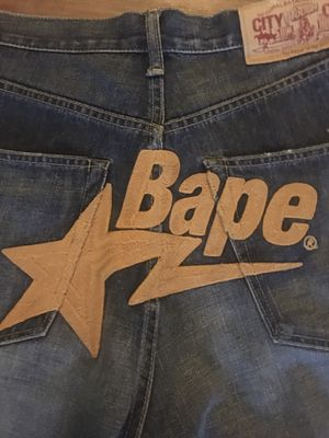 Vintage bape jean shorts for Sale in Scottsdale, AZ
