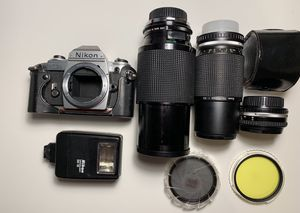 Nikon FG, 50mm, 75-150mm,75-210mm for Sale in Houston, TX