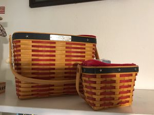 Longaberger collector baskets for Sale in Dallas, TX