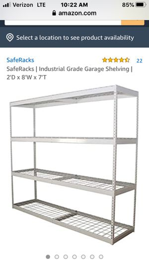 (Like New) SAFERACKS INDUSTRIAL GRADE SHELVING UNIT for Sale in Mission Viejo, CA
