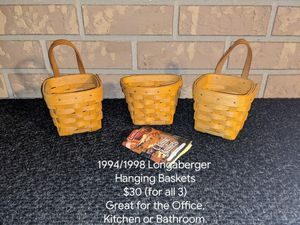 1994/1998 Longaberger Small Hanging Baskets for Sale in Orange City, FL
