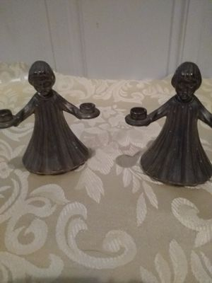 Vintage Pewter candle holders choir girl (2) for Sale in Ridley Park, PA