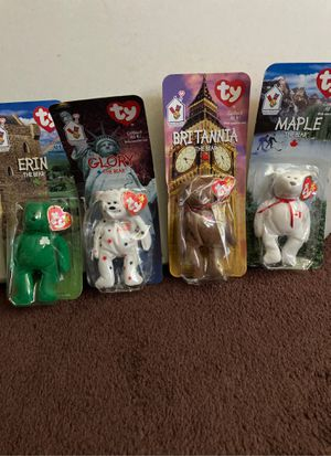 1998 McDonald's ty beanie babies. Plastic is crushed but bears are in good shape. for Sale in Los Angeles, CA
