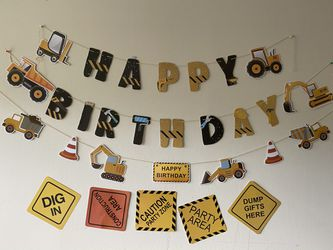 Construction Birthday party decorations for Sale in North Potomac,  MD