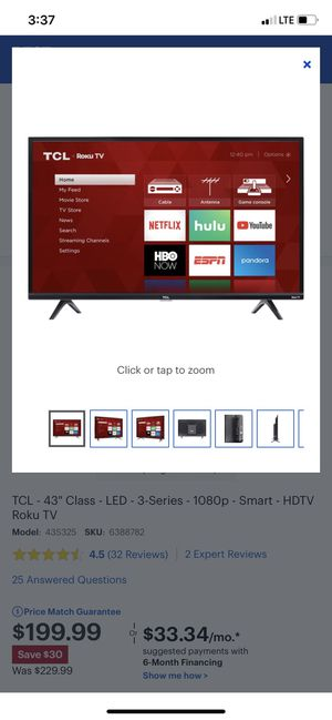 "TCL Roku Tv 43"" for Sale in West Haven, CT"