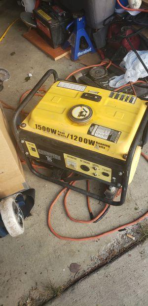 Champion 1200 to 1500 watt generator for Sale in Marysville, WA