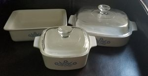 Pyrex Corning Ware Blue Cornflower Casserole Dish Dishes for Sale in Spring Valley, CA