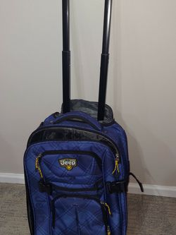 JEEP Brand Luggage Blue Plaid in Color for Sale in Des Plaines,  IL