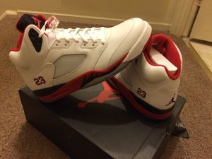 Retro Air Jordan 5's Fire Red w/ #23, Black Tongue for Sale in Rockville, MD
