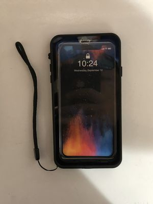 iPhone X max waterproof case for Sale in Albuquerque, NM