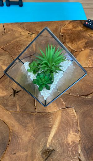 Faux glass terrarium for Sale in Sioux Falls, SD