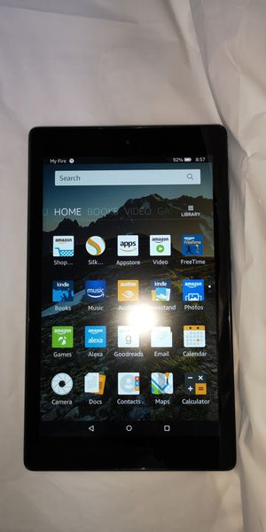 """Amazon Fire HD 8 Tablet 8"""" HD Wi-Fi 16GB 1.5GB RAM Black 6th Gen for Sale in Largo, FL"""