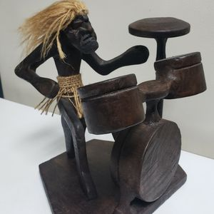 Wood Carved Drummer for Sale in Norcross, GA