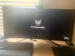 """Acer Predator Gaming X34 Pbmiphzx Curved 34"""" UltraWide QHD Monitor with NVIDIA G-SYNC for Sale in Haines City, FL"""